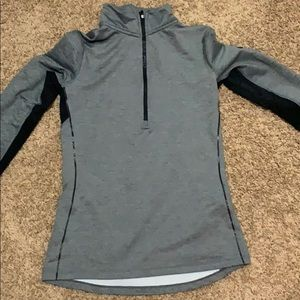 nike grey and black pullover